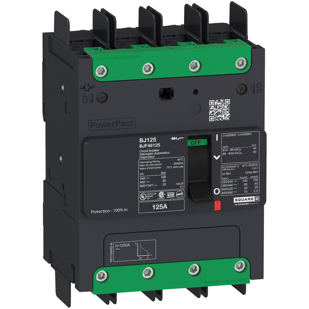 SQUARE D PowerPact B-Frame Molded Case Circuit Breakers Unit Mount - BJF46070