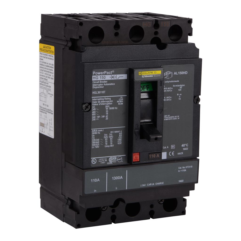 SQUARE D PowerPact H-Frame Molded Case Circuit Breakers Unit Mount - HGL36110T