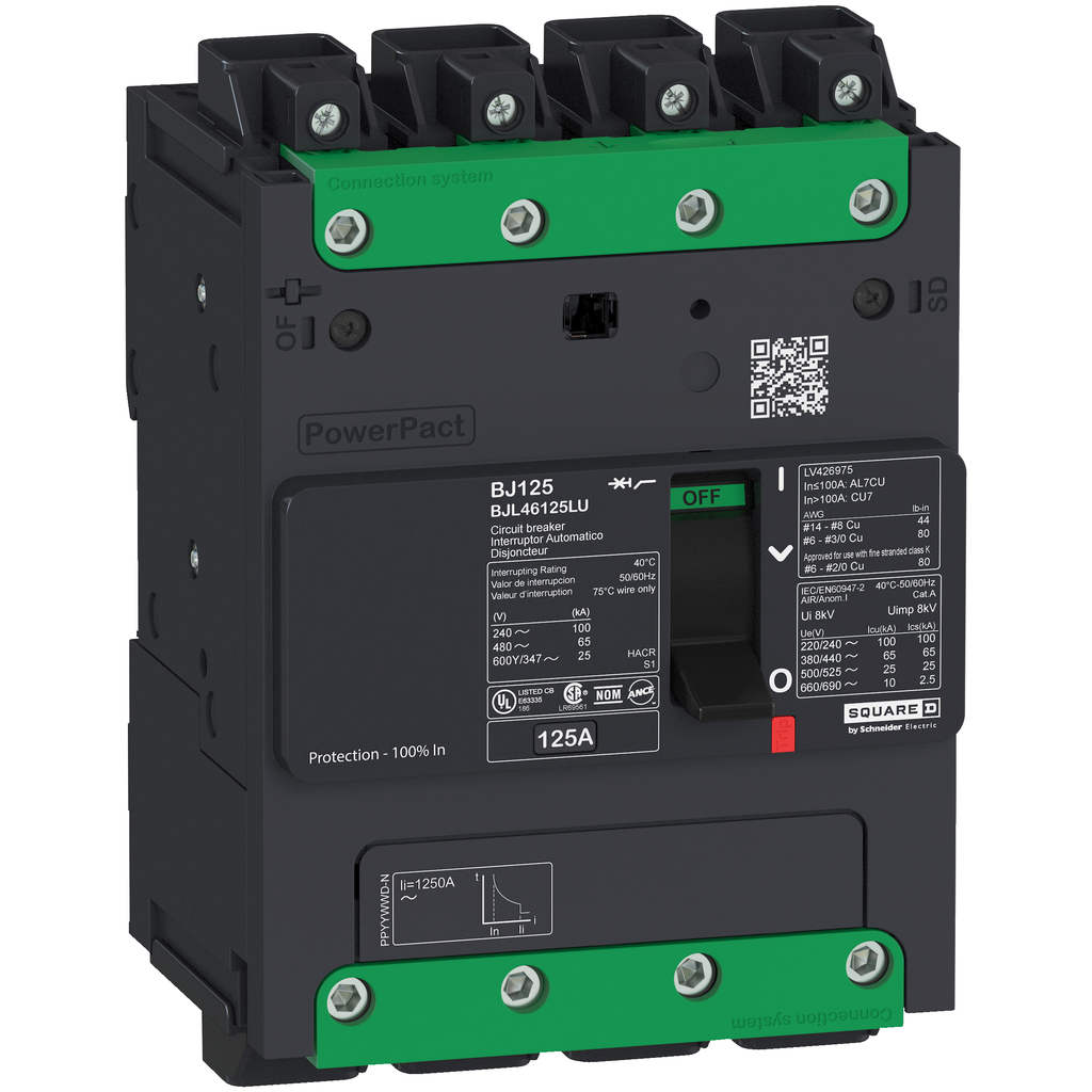SQUARE D PowerPact B-Frame Molded Case Circuit Breakers Unit Mount - BGL46110LU