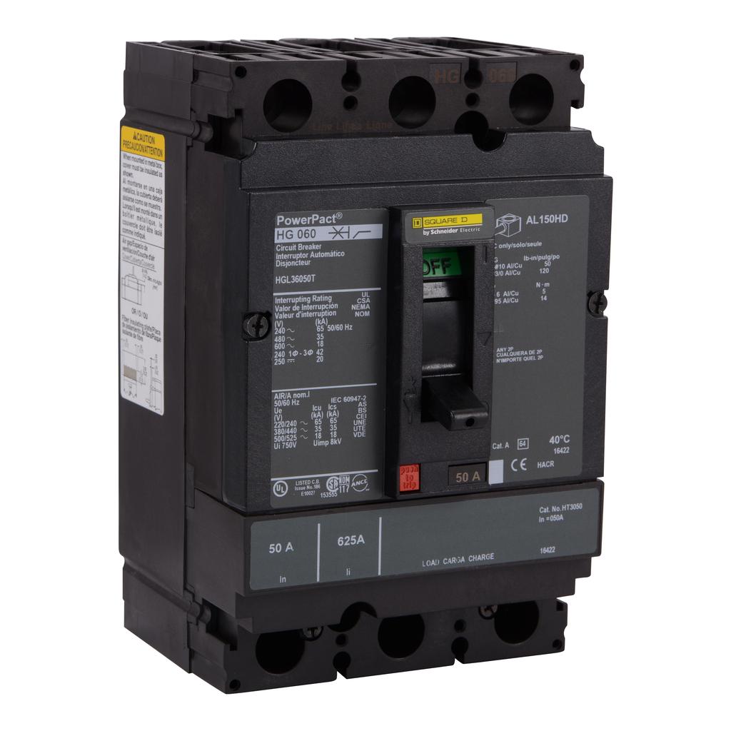 SQUARE D PowerPact H-Frame Molded Case Circuit Breakers Unit Mount - HGL36050T