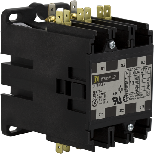 SQD 8910DPA63V02 60A 600V AC CONTACTOR DPA OPTIONS