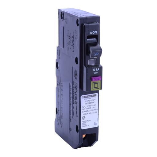 SQD QO120PDF 1P 20A PLUG-ON DUAL FUNCT ARC-FAULT/GFI CIRCUIT BREAKER 120V