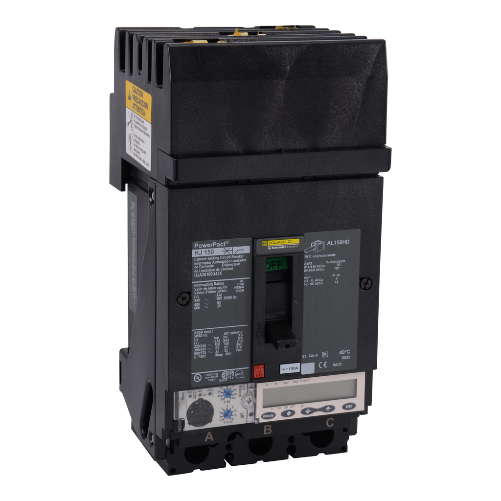 SCHNEIDER ELECTRIC PowerPact H-Frame Molded Case Circuit Breakers I-Line - HJA36100U43X