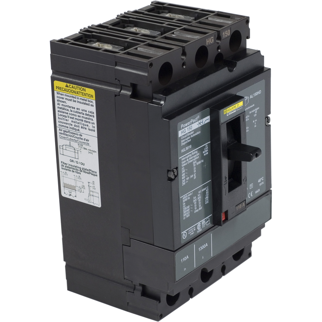 SQUARE D PowerPact H-Frame Molded Case Circuit Breakers Unit Mount - HGL36110