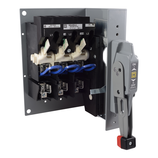 Mayer-9422 Flange/Bracket Mounted Fixed/Variable Depth Disconnect Switches - 9422BTCF32-1