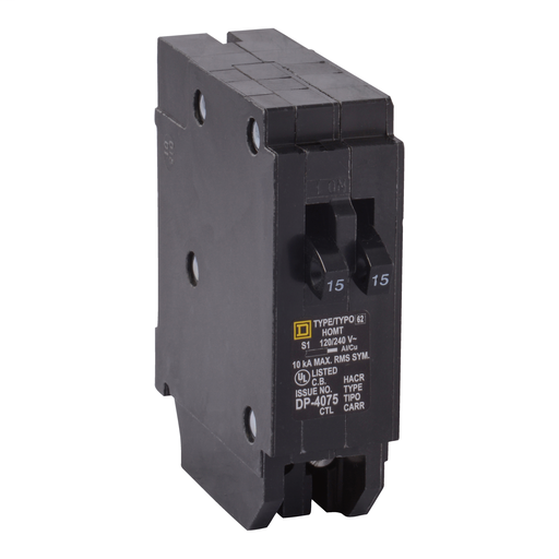 SQD HOMT1520 20A 120/240V TWIN CIRCUIT BREAKER