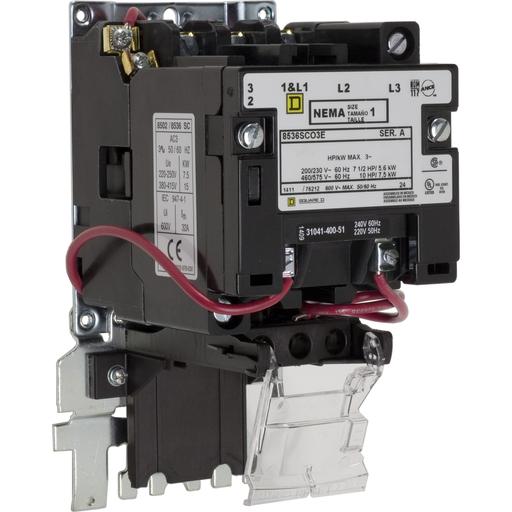 SQD 8536SCO3V08E STARTER 600VAC 27AMP NEMA +OPTIONS