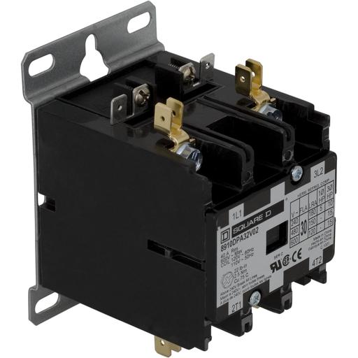 SQD 8910DPA32V02 30A 600V AC DPA CONTACTOR OPTIONS
