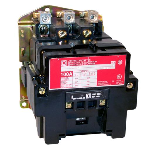 SQD 8903SPO3V02 LIGHTING CONTACTOR NEMA +OPTIONS