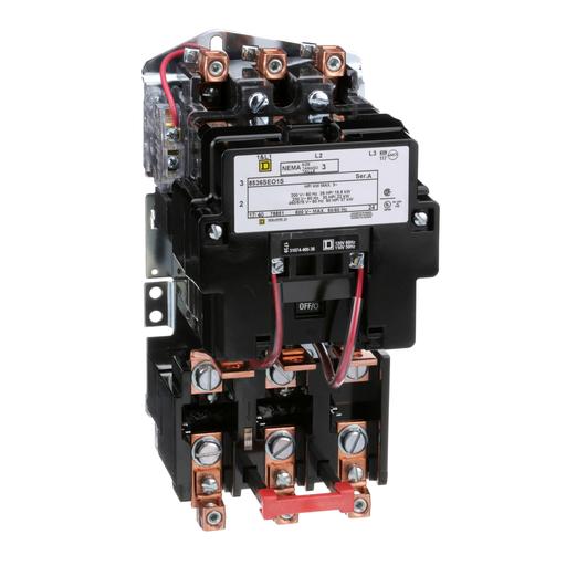 SQD 8536SEO1V02S 90A 600V AC SIZE 3 MOTOR STARTER NEMA OPTIONS