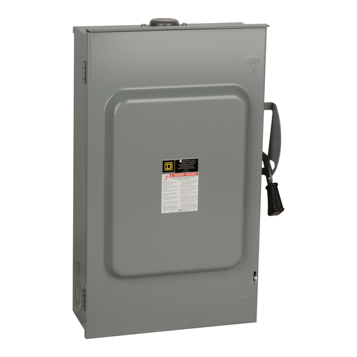 SquareD D224NRB 200A 2P NEMA-3R 240v General Duty Safety Switch, Fusible