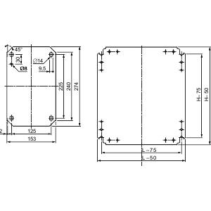SQD NSYMM54 METAL PLAIN CHASSIS 500X400