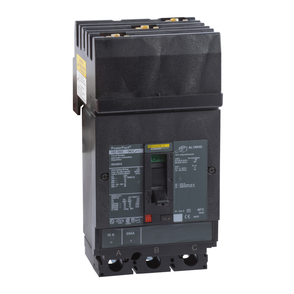 SQUARE D PowerPact H-Frame Molded Case Circuit Breakers I-Line - HDA36015
