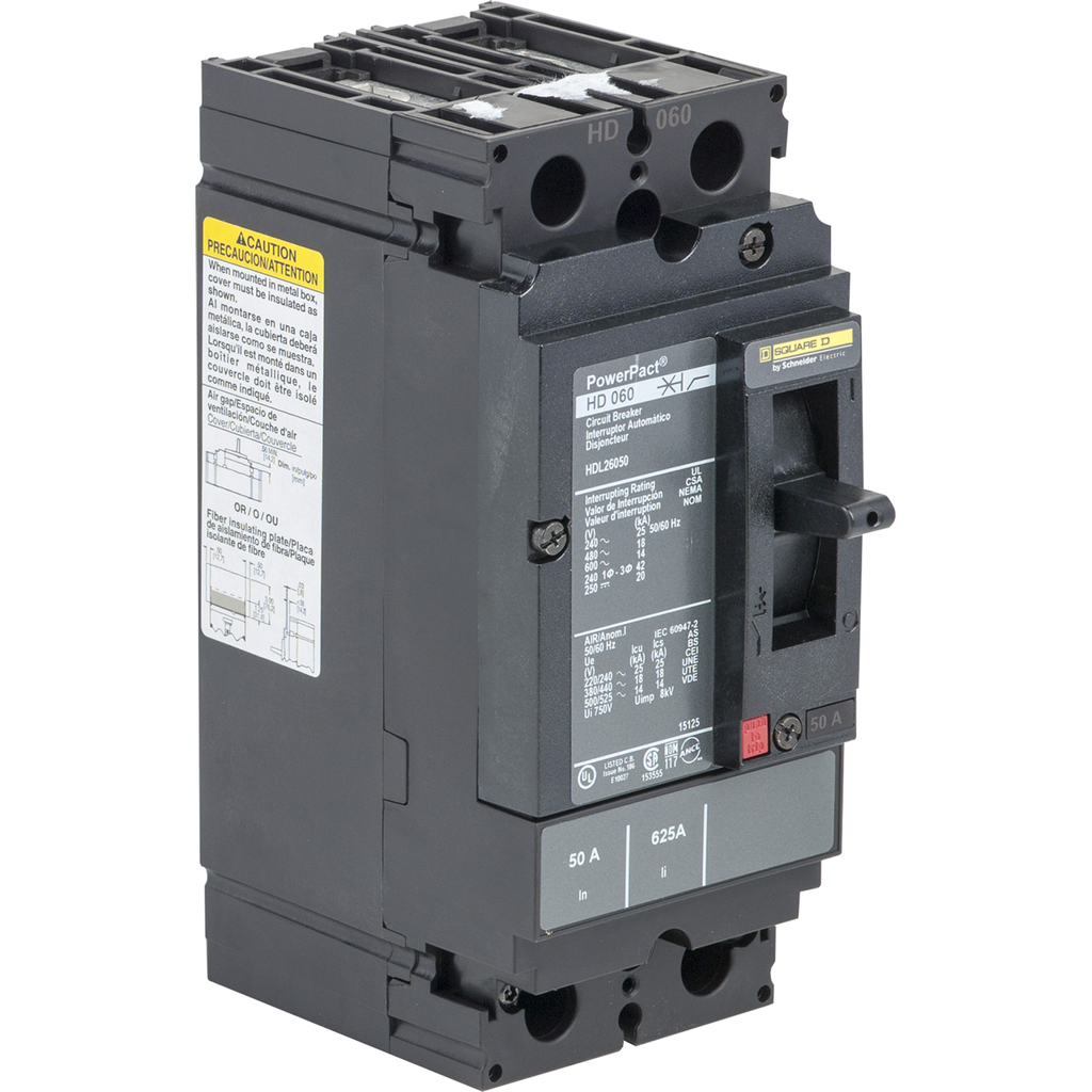 SQUARE D PowerPact H-Frame Molded Case Circuit Breakers Unit Mount - HDL26045