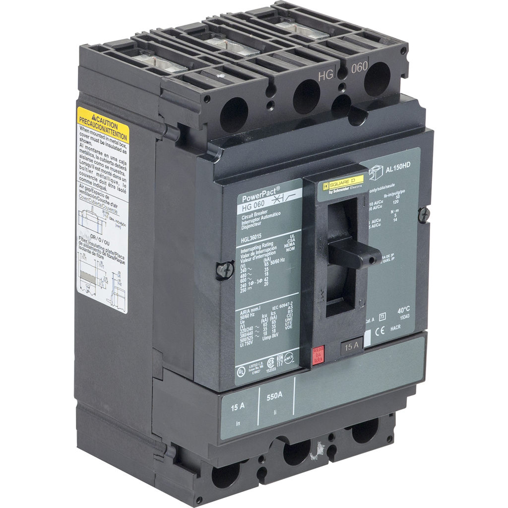 SQUARE D PowerPact H-Frame Molded Case Circuit Breakers Unit Mount - HGL36100SA
