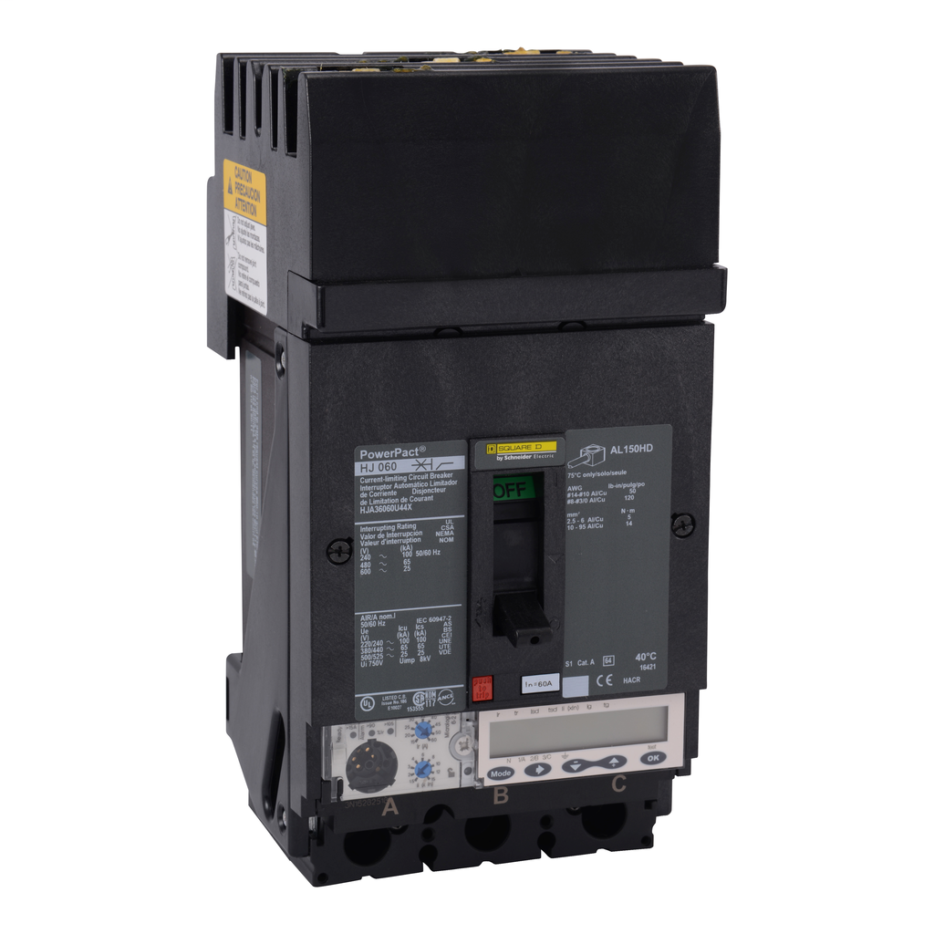 SCHNEIDER ELECTRIC PowerPact H-Frame Molded Case Circuit Breakers I-Line - HJA36060U44X