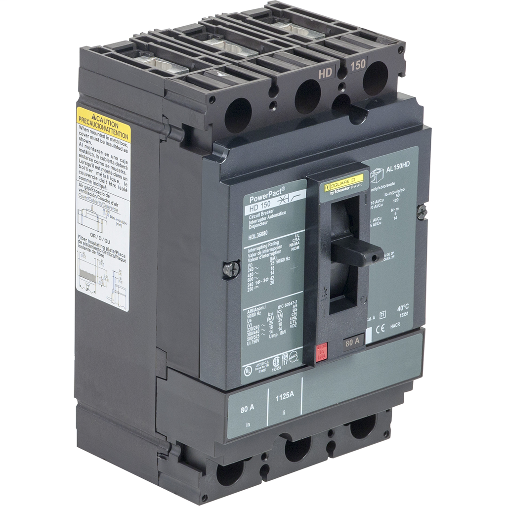 SQUARE D PowerPact H-Frame Molded Case Circuit Breakers Unit Mount - HDL36150C