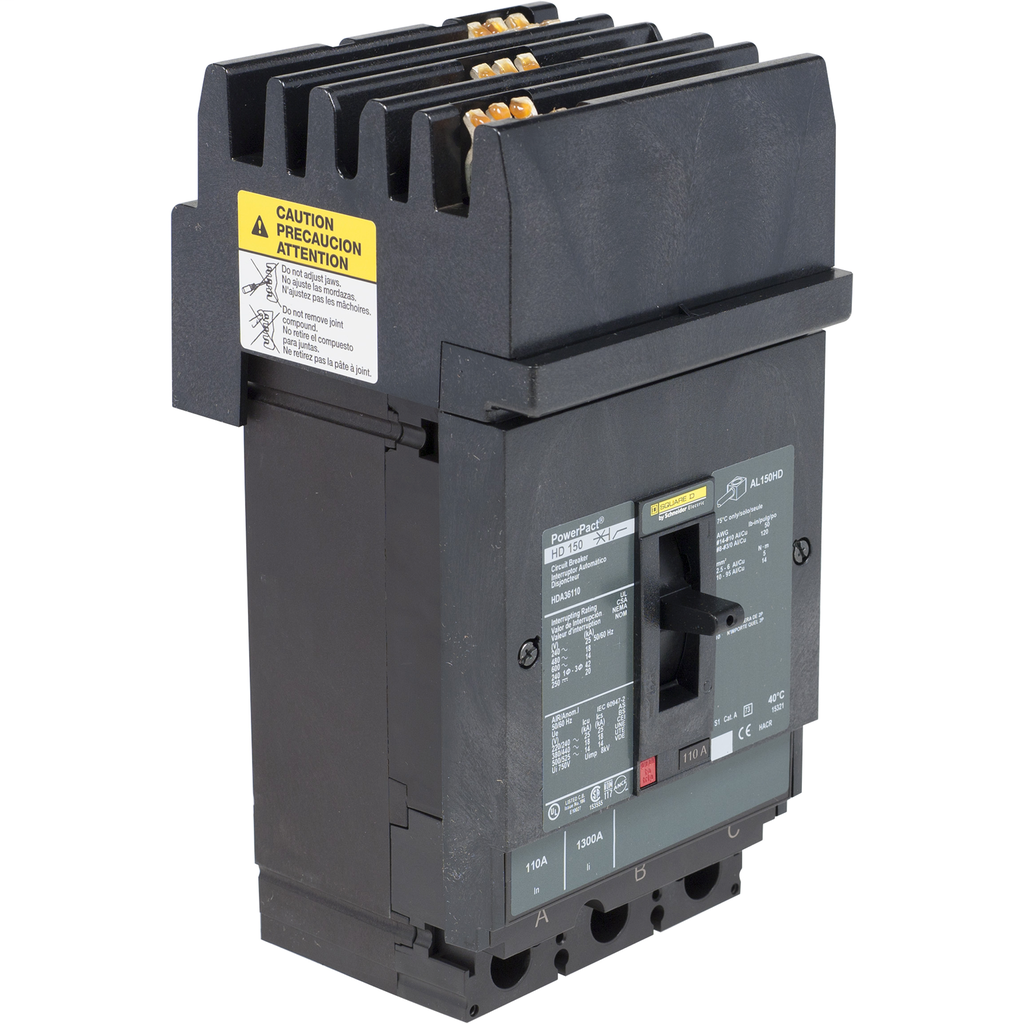 SQD HDA36150U31X MOLDED CASE CIRCUIT BREAKER 600V 150A