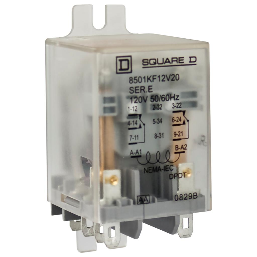 11 pin DPDT  120 VAC//VDC NEW Square D 8501KA112AV20 Alternating Relay