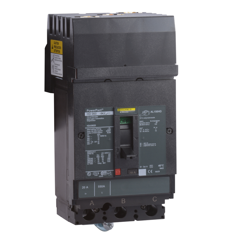 SQUARE D PowerPact H-Frame Molded Case Circuit Breakers I-Line - HDA36090