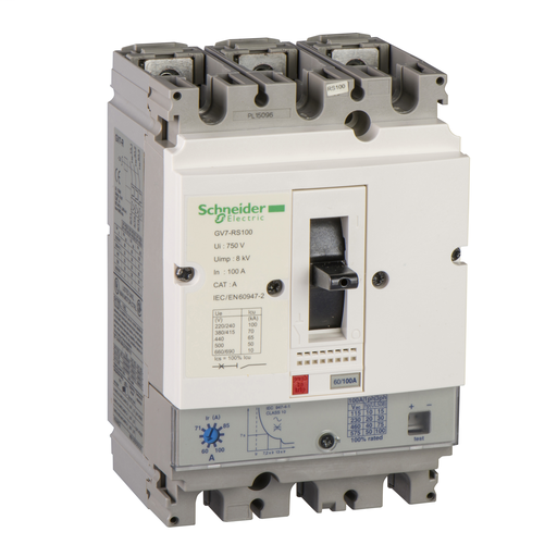 SQD GV7RE50 MANUAL STARTER 600VAC 50AMP IEC