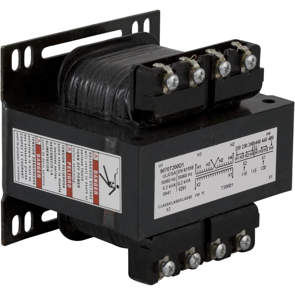 SQD 9070T200D1 VA200 240/480V-120V CONTROL TRANS.