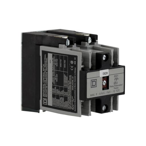 SQD 8501XO02V02 RELAY 600VAC 10AMP NEMA +OPTIONS