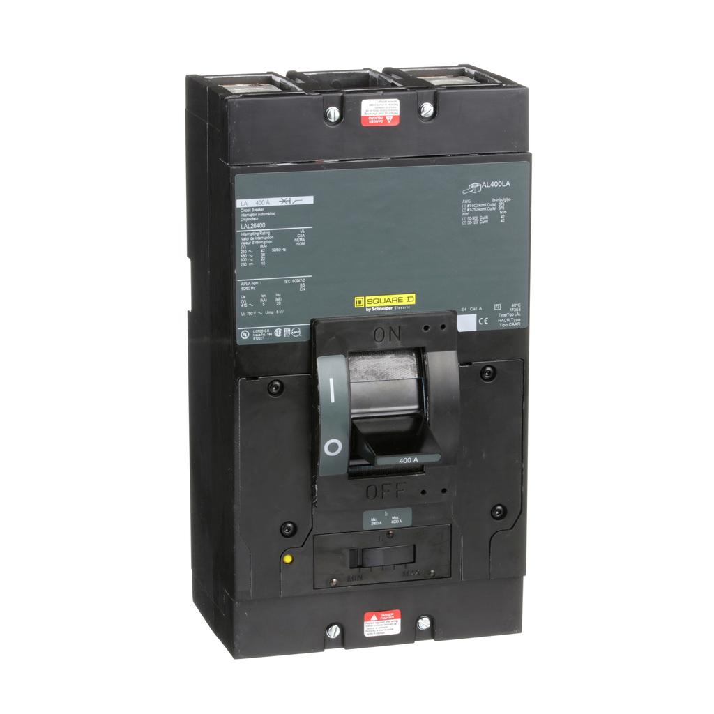 SQD LAL26400 2P-600V-400A CB