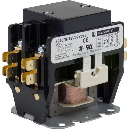 Mayer-8910 Definite Purpose Contactors - 8910DP12V02Y248-1