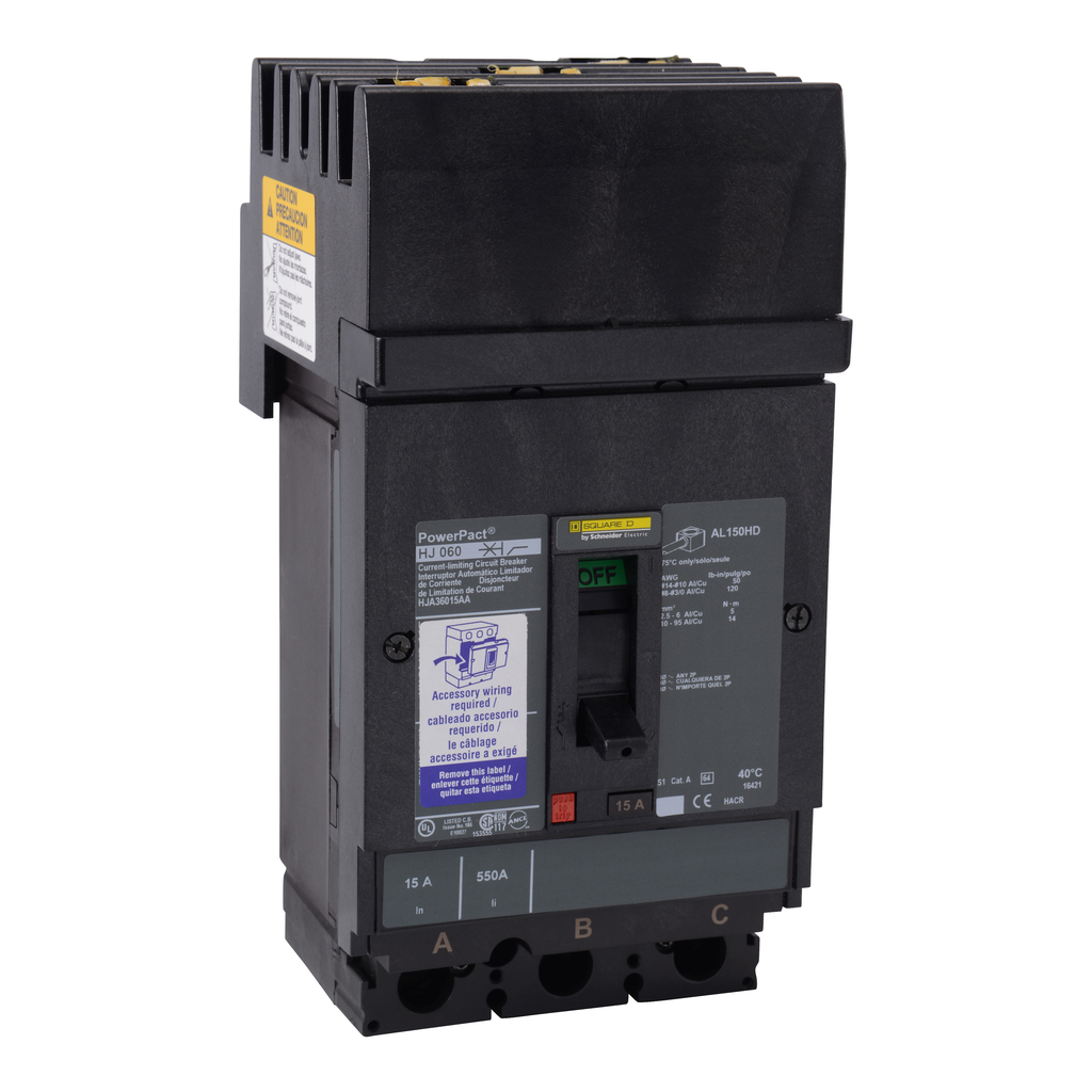 SQUARE D PowerPact H-Frame Molded Case Circuit Breakers I-Line - HJA36100SA