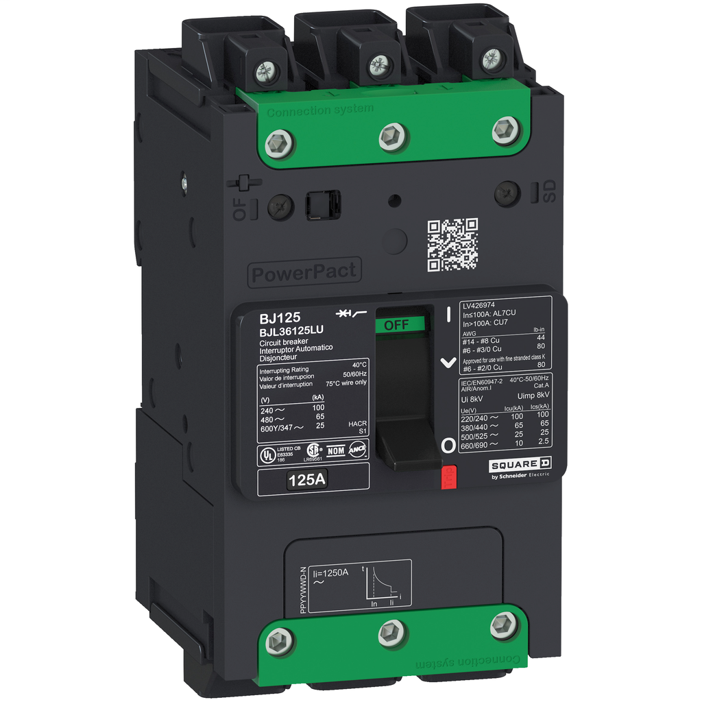 SQUARE D PowerPact B-Frame Molded Case Circuit Breakers Unit Mount - BGL36090LU