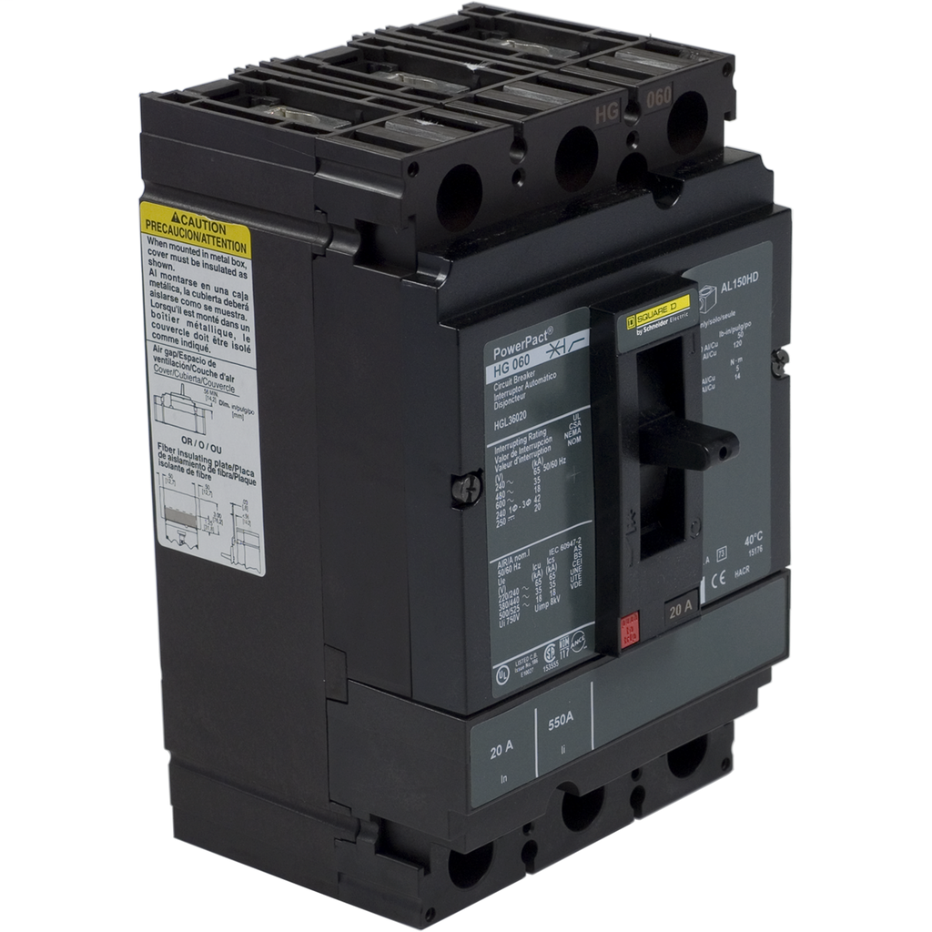 SQUARE D PowerPact H-Frame Molded Case Circuit Breakers Unit Mount - HGL36020