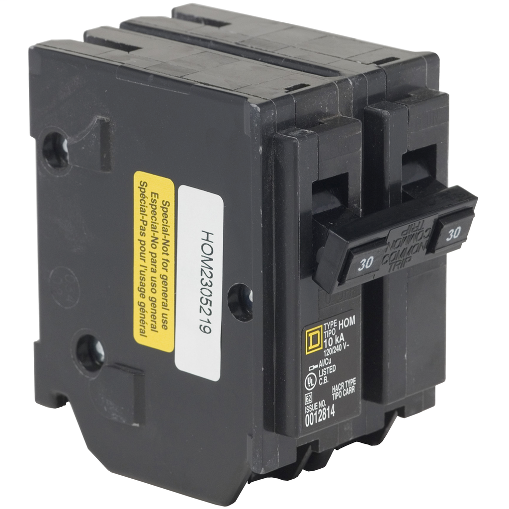 SquareD HOM230 30A 120/240v 2P Homeline Circuit Breaker, Plug-On