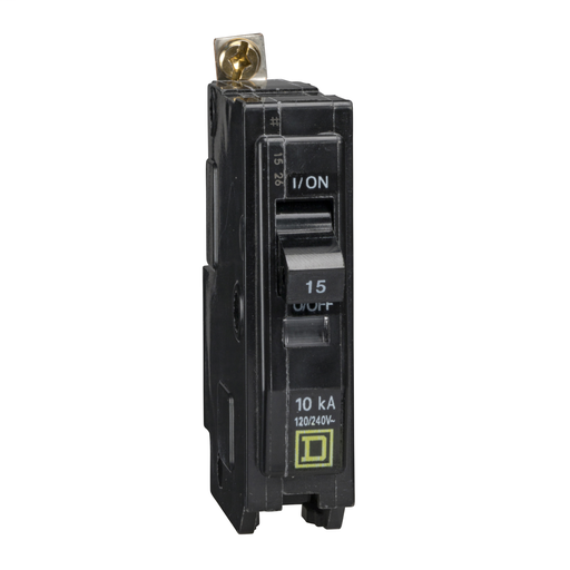 SQD QOB115 1P 15A 120/240V BOLT-ON CIRCUIT BREAKER