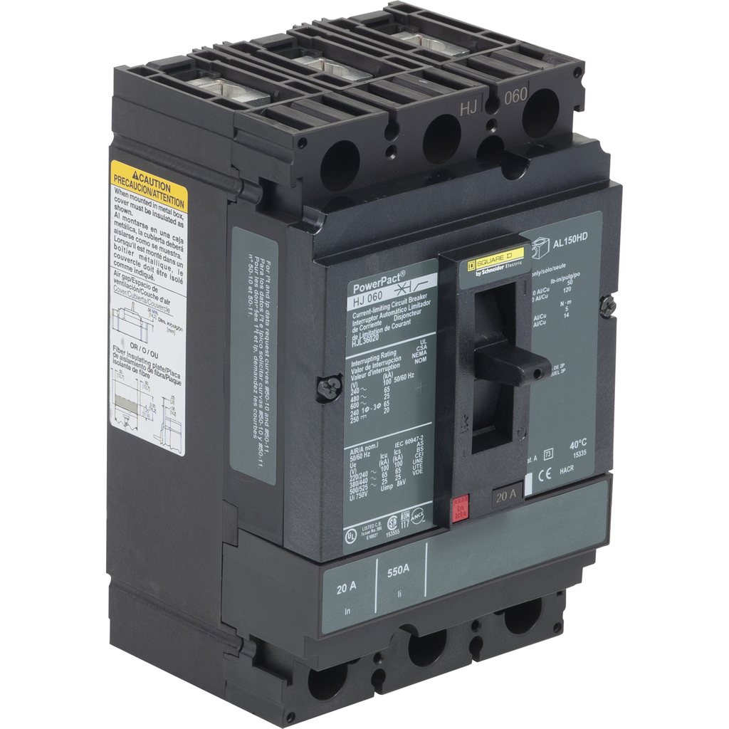 SQUARE D PowerPact H-Frame Molded Case Circuit Breakers Unit Mount - HJL36020