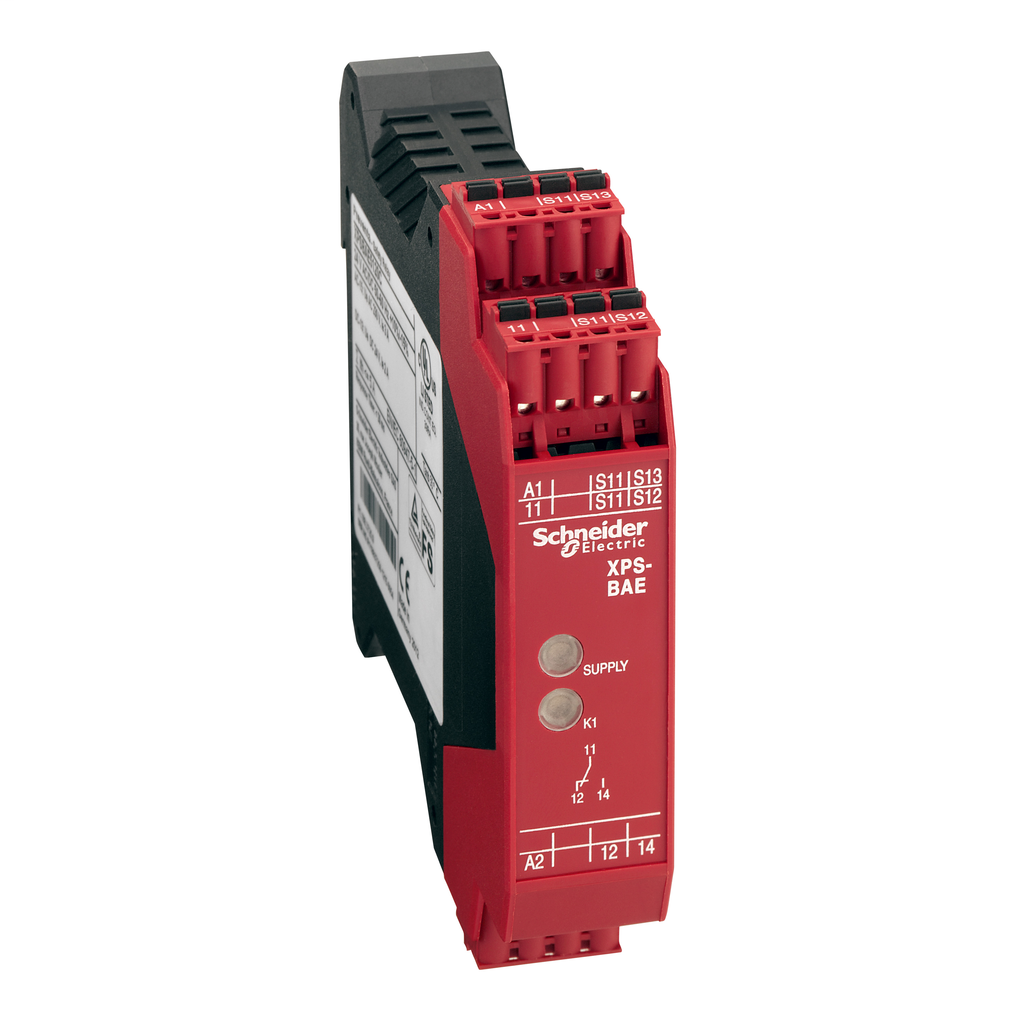 SQD XPSBAE3920C SAFETY RELAY FOR TWO HAND CONTROL 120/2