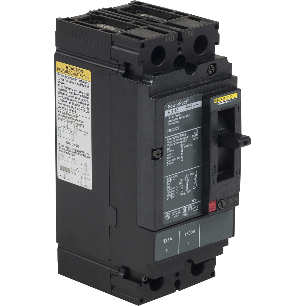 PowerPact H-Frame Molded Case Circuit Breakers Unit Mount - HGL26040