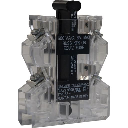 Mayer-fuse holder kit Type S, Type M fuse, two fuses, NEMA 00-7, 600VAC, 6 Amp-1
