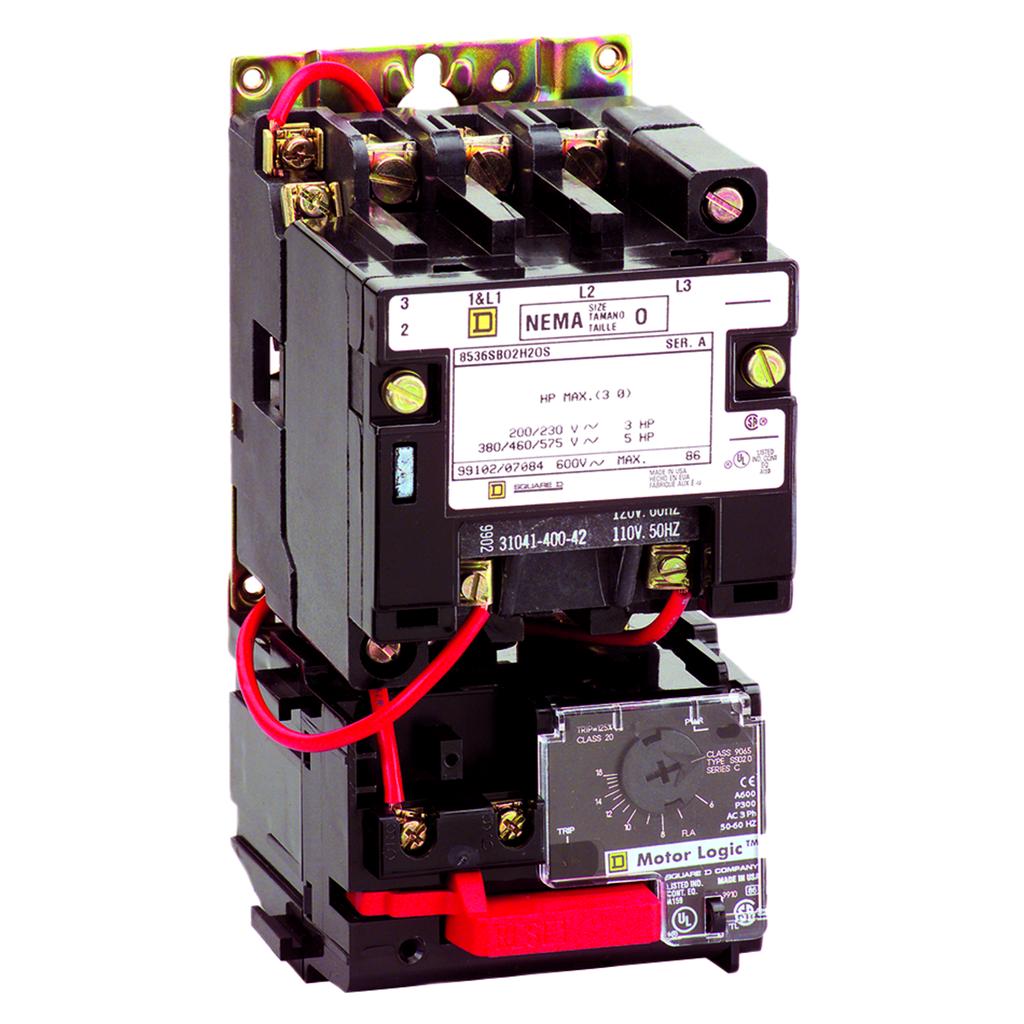SQD 8536SDO1V02H30S STARTER 600VAC 45AMP NEMA +OPTIONS