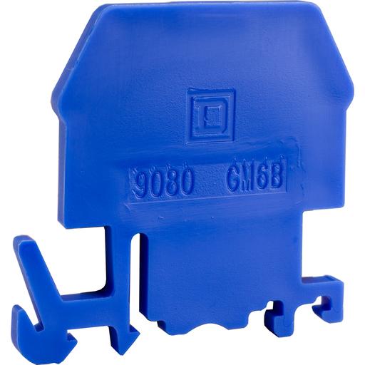 Mayer-Terminal Block End Barrier, Blue Color, For 9080GM6, GR6 terminal blocks-1