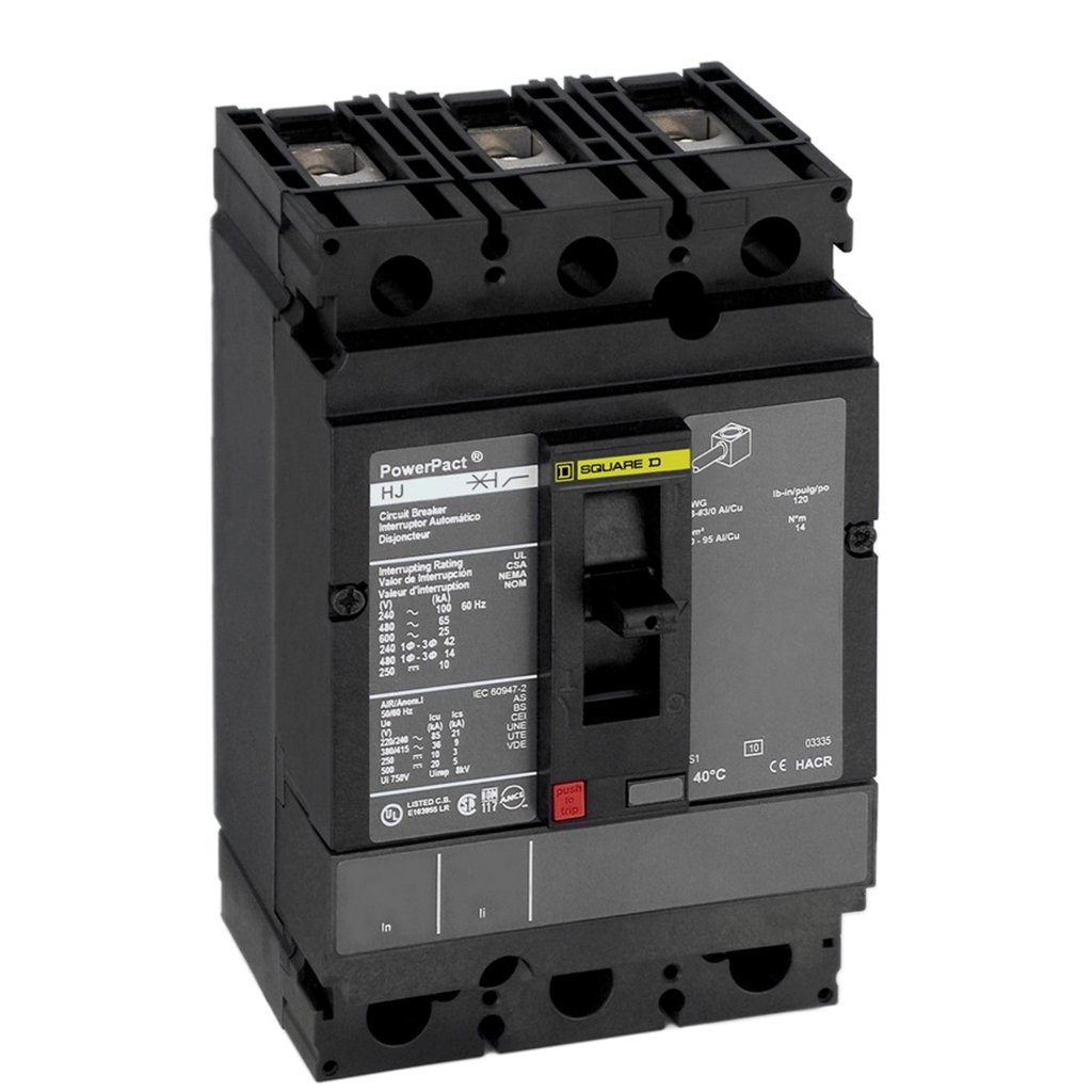 SQUARE D PowerPact H-Frame Molded Case Circuit Breakers Unit Mount - HDL36125T