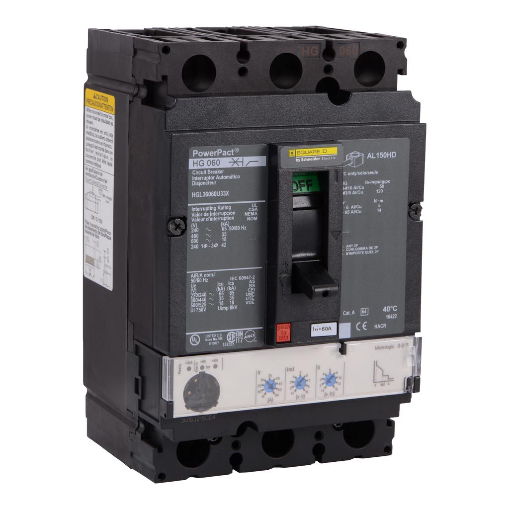 SQUARE D PowerPact H-Frame Molded Case Circuit Breakers Unit Mount - HGL36060U33X