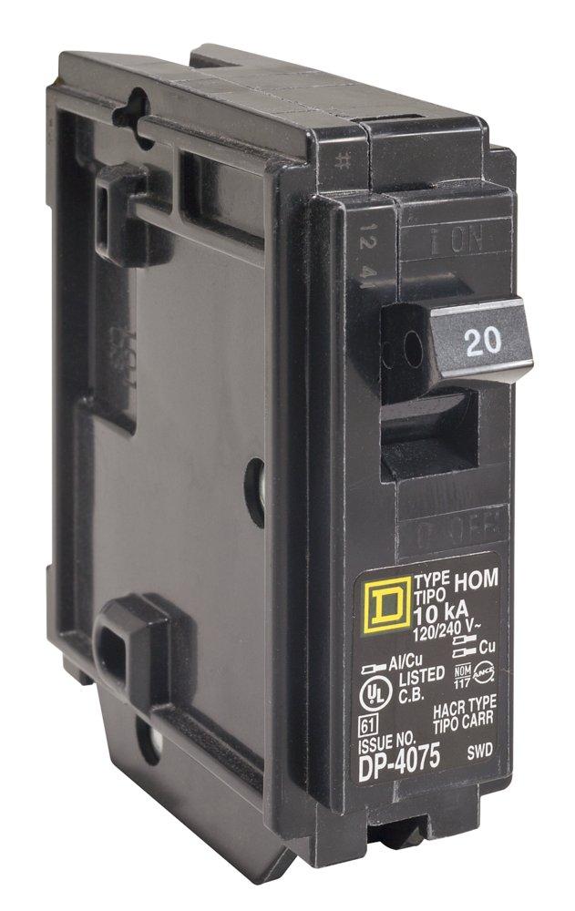 SQD HOM120 1P BREAKER 120/240V 20A