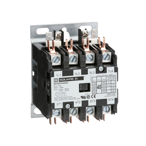SQD 8910DPA44V02 40A 600V AC CONTACTOR DPA OPTIONS