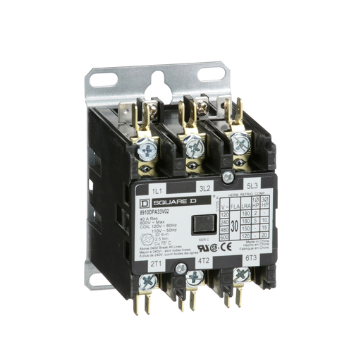 SQD 8910DPA13V02 20A 120V CONTACTOR