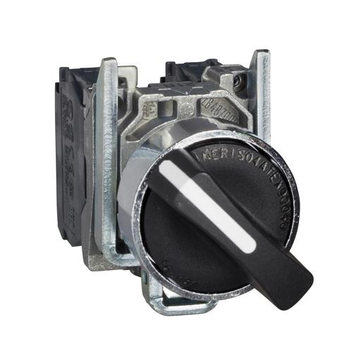 SQD XB4BD33 1.2A 600V AC SELECTOR SWITCH +OPTION