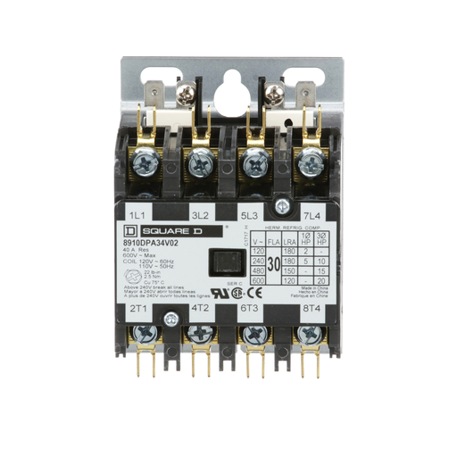 SQD 8910DPA34V02 30A 600V AC DPA +OPTIONS 120V CONTACTOR
