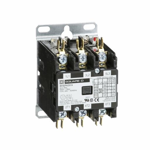 SQD 8910DPA33V14 30A 600V AC 24V DPA +OPTIONS CONTACTOR