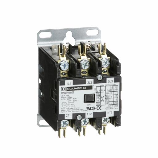 SQD 8910DPA33V02 30A 600V AC CONTACTOR DPA OPTIONS