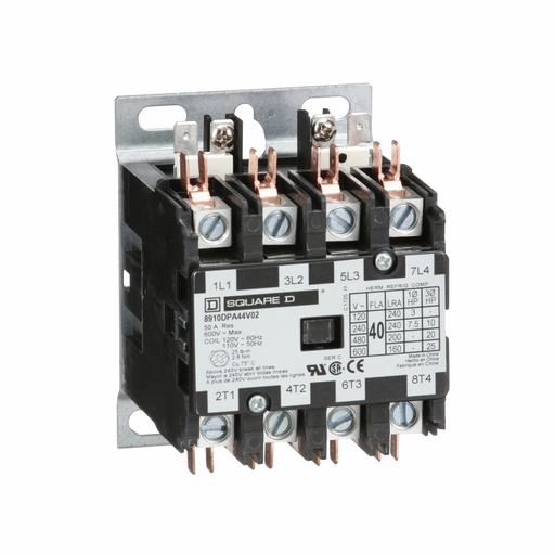 SQD 8910DPA44V02 40A 600V AC CONTACTOR DPA OPTIONS